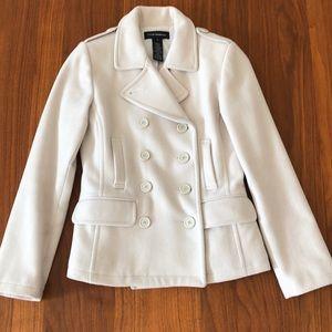 Pea Coat • Club Monaco • XS • cream color